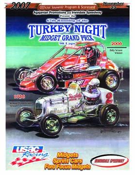 What turkey night midget race can
